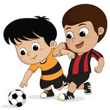 Cartoon soccer kid. Stock Image