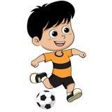 Cartoon soccer kid. Royalty Free Stock Image