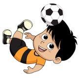Cartoon soccer kid. Stock Photos