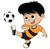 Cartoon soccer kid. Stock Photos
