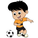 Cartoon soccer kid. Royalty Free Stock Image
