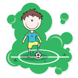 Cartoon Soccer Player Royalty Free Stock Photo