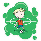 Cartoon Soccer Player Royalty Free Stock Image