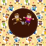 Cartoon soccer player card Royalty Free Stock Images