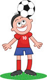 Cartoon Soccer Player Heading Royalty Free Stock Images