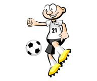 Cartoon Soccer player isolated over white Royalty Free Stock Photos