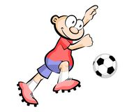 Cartoon Soccer player isolated over white Royalty Free Stock Photography