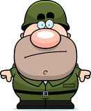Cartoon Soldier Bored Royalty Free Stock Images