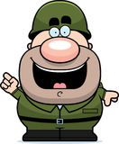 Cartoon Soldier Idea Royalty Free Stock Photo