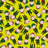 Cartoon Soldier seamless pattern Royalty Free Stock Photography