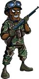 Cartoon soldier with a shotgun Stock Image
