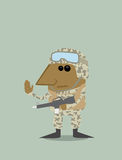 Cartoon soldier Stock Photography