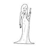 Cartoon sorceress Stock Photos