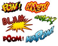 Cartoon sound effects 01 Stock Photo