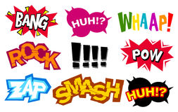 Cartoon sound effects 02 Royalty Free Stock Image