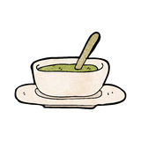 Cartoon soup bowl Stock Photography