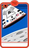 Cartoon Space Capsule. An EPS file is also available stock illustration