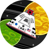 Cartoon Space Capsule. An EPS file is also available royalty free illustration