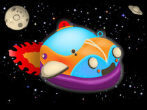 Cartoon space car Royalty Free Stock Images
