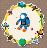 Cartoon space card Stock Image