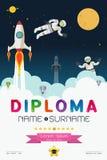 Cartoon space diploma design Stock Image
