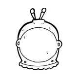 cartoon space helmet Stock Image