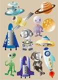 Cartoon space icon Royalty Free Stock Photo
