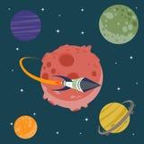 Cartoon space icon royalty free illustration