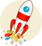 Cartoon space rocket vector illustration
