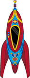 Cartoon Space Rocket Ship. An EPS file is also available royalty free illustration
