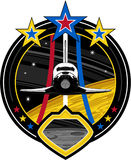 Cartoon Space Shuttle. An EPS file is also available stock illustration