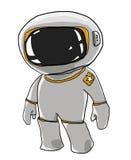 Cartoon Spaceman looks a cute Royalty Free Stock Photo