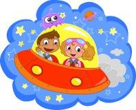 Cartoon Spaceship Royalty Free Stock Photography