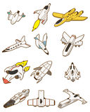 Cartoon spaceship icon. Vector drawing Royalty Free Stock Images