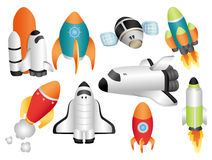 Free Cartoon Spaceship Icon Royalty Free Stock Image - 19560016