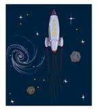 Cartoon Spaceship  illustration Stock Photo