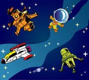 Cartoon spaceships Royalty Free Stock Photos