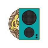 Cartoon speaker baffle audio music Stock Images