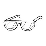 Cartoon spectacles Royalty Free Stock Photography