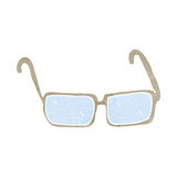 Cartoon spectacles Royalty Free Stock Photos