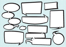 Cartoon Speech Bubble Collection 2 Royalty Free Stock Images