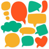 Cartoon speech bubbles. Different sizes and forms. Stock Photo