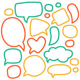 Cartoon speech bubbles. Different sizes and forms. Royalty Free Stock Photo