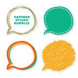 Cartoon speech bubbles. Vector illustration. Royalty Free Stock Photo
