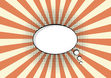 Cartoon speech pop art bubble haltone communication  sunburst background vector cloud Stock Images