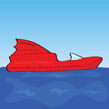Cartoon speed boat Royalty Free Stock Photos