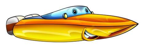 Cartoon speed boat Royalty Free Stock Photo