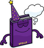 Cartoon Spell Book Dreaming Royalty Free Stock Images