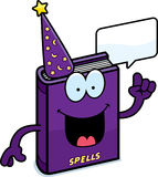 Cartoon Spell Book Talking Stock Image