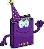 Cartoon Spell Book Waving Stock Images